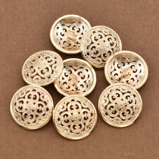 8pcs Gold Metal Shank Button Round for Jacket Sweater Clothes Coat Accessories