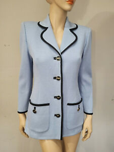 ST JOHN Collection by Marie Gray Size 4 Baby Blue Jacket Blazer (#mmsm)