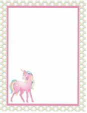 Pink Unicorn Stationery Printer Paper 26 Sheets