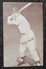"""1962 MICKEY MANTLE Stat Back 3.25x5.25"""" Exhibit Card VG+ 4.5 NY Yankees"""