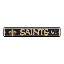 """New NFL New Orleans Saints Home Decor AVE Street Sign 24"""" x 4"""" Styrene Plastic"""