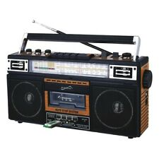 SUPERSONIC(R) SC-3201BT-WD Supersonic Retro 4-Band Radio and Cassette Player ...