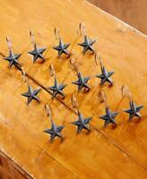 12 PC Rustic Country Barn Star Bathroom Shower Curtain Hooks