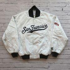 Vintage San Francisco Giants Satin Jacket by Starter Size M L Silver Grey