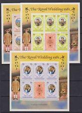 1981 Royal Wedding Charles & Diana MNH Large Stamp Sheetlets Grenada Grenadines