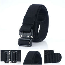 1inch Black Skinny Nylon Belt Quick Release Buckle Tactical Web Heavy Duty Belts