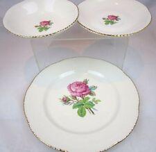 HOMER LAUGHLIN ROSE Plate bowl saucer CALIROSE Cunningham & Pickett Gold gilted