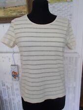 Tee shirt polyamide JAUNE stretch rayé fin UN JOUR AILLEURS T.3 42/44FR
