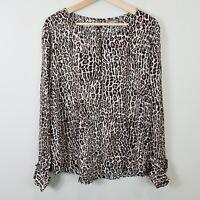 [ SUSSAN ] Womens  Leopard Print  Blouse Top | Size AU 18 or US 14