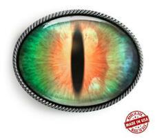 Cosplay Eye Belt Buckle - Sci-fi Fantasy Handmade Silver Buckle - 74-E