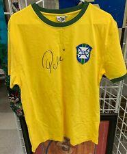 PELE SOCCER/FOOTBALL PLAYER HAND SIGNED BRAZIL 1970 WORLD CUP SHIRT (L) W/COA