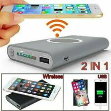 900000mah Qi Wireless Power Bank Pack Backup Battery Charger For All USB Phone.M