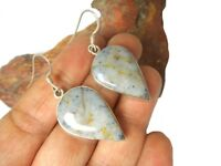 Ocean  JASPER   Sterling  Silver  925 Gemstone  EARRINGS  -  Gift Boxed