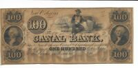 $100  Note Louisiana New Orleans Canal Bank 18XX unissued Plate B  Man cotton