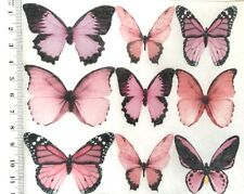 Pink Butterfly Edible Cake Topper Mixed Species 10pc Crimson Fairy Rose Pretty