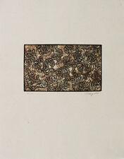 Mark Tobey-Il giorno del ringraziamento Leaf 1971 farbradierung-firmato a mano-edizione 96 EX