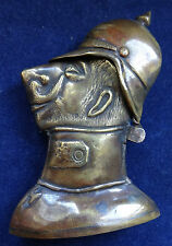 BRIQUET DE POILU GUILLAUME II WW1 TRENCH ART LIGHTER WK1 FEUERZEUG WILLHELM II