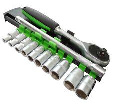 Jeu de douilles clé à cliquet 1/4 rallonge 12cm 4/5/6/7/8/9/10/11/12/13mm Cr-V