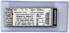 Manny Pacquiao vs Timothy Bradley 2 Ticket stub w/ Hard Plastic Holder BOXING