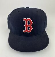 Vintage Boston Red Sox MLB Diamond Collection New Era Fitted Hat Sz 7 3/8 Wool