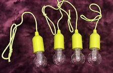 4 X Green Led Pull Cord Lightbulb -  Colour Changing