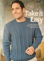 KNITTING PATTERN Mens Classic Ribbed Jumper Long Sleeve Sweater Sublime DK