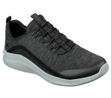 Bungee Skechers Black Gray Shoes Men's Comfort Slip On Casual Memory Foam 52769