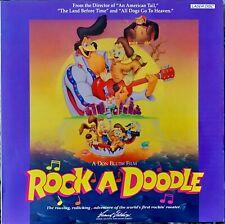 "ROCK A DOODLE 12"" LASERDISC CARTOON DON BLUTH FILM VERY GOOD"
