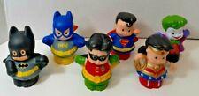 Little People Super Hero lot of 6 Batman Superman Wonder Woman Joker Robin