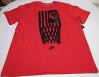 Nike Classic American Flag Basketball Net Shirt Mens L XL Red Black 695465 657