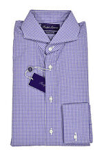 Ralph Lauren Purple Label Tailored Fit Keaton French Cuff Dress Shirt New $450