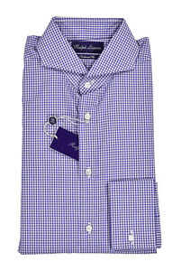 Ralph Lauren Purple Label Tailored Fit Keaton French Cuff Dress Shirt New $450