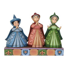 Disney Jim Shore Sleeping Beauty Three Fairies Flora Fauna Royal Guests Figurine
