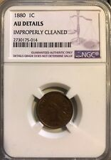 1881 Indian Cent NGC AU Details Altered Color Graded Coin
