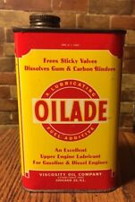 VINTAGE OILADE CAN VISCOSITY OIL COMPANY CHICAGO ILL USA OLD AUTO TIN COLLECTOR