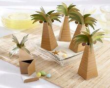 Palm Tree Beach Wedding Bridal Shower Favor Boxes 24/pk