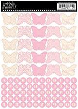 JBS Banner Stickers-BUTTERFLY VINTAGE PINK scrapbooking ALPHABET