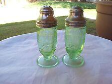 RARE Green Clover - Cloverleaf Salt and Pepper Shaker Set