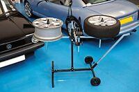 POWER-TEC REPAIR STAND ADJUSTABLE  ALLOY WHEELS 4 WHEELS & TYRES