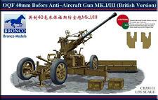 Bronco 1/35 35111 British OQF 40mm Bofors Anti-Aircraft Gun Mk.I/III
