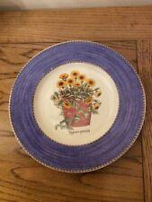 "Wedgewood Sarahs Garden Salad/Side Plate Blue Approx 8"""