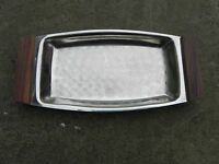 Vintage Retro Stainless Steel Serving Platter