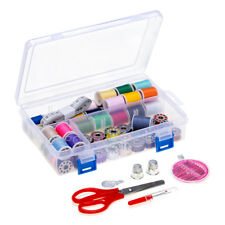 32 Assorted Sewing Thread Spools and  Matching Bobbins with  Sewing Kit Needle