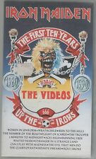 IRON MAIDEN THE FIRST TEN YEARS THE VIDEOS VHS
