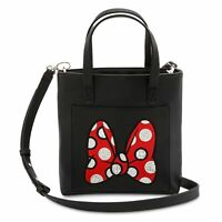 NWT Disney Parks Exclusive Minnie Mouse Bow Mini Tote-Style Crossbody Bag