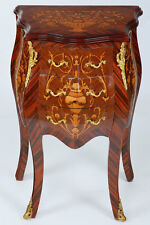 LOUIS XV-style commode avec 3-tiroirs, petite Drawer commode avec Fine marquetry
