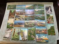 Lot of 24 Antique Postcards Franconia Notch Mt Washington etc NH New Hampshire