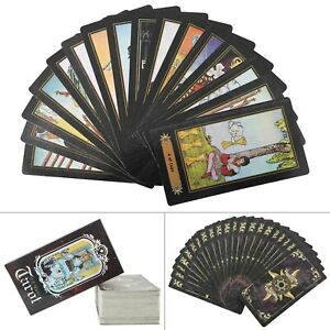 78Cards Waite Rider Tarot Card Deck Vintage Colorful Box Future for Beginners UK