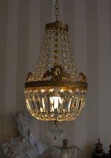 Antique Plafonnier Lustre En Laiton Cristaux Lustres En Cristal