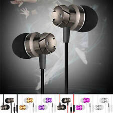3.5 mm METALLO Cuffie Stereo headset IN EAR Auricolari con microfono Super Bass